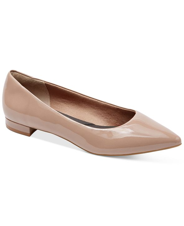 Rockport Women's Total Motion Adelyn Pointed-Toe Ballet Flats
