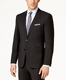 Men's Black Slim-Fit Jacket