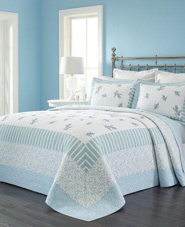 martha stewart collection bellflower bedspreads only at macy 39 s quilts bedspreads bed. Black Bedroom Furniture Sets. Home Design Ideas