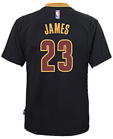 adidas LeBron James Cleveland Cavaliers Replica Pride Jersey, Big Boys (8-20)
