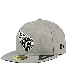 Tennessee Titans Heather Black White 59FIFTY Fitted Cap