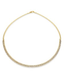 """I.N.C. 16"""" Crystal Collar Necklace, Created for Macy's"""