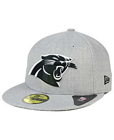 New Era Carolina Panthers Heather Black White 59FIFTY Fitted Cap