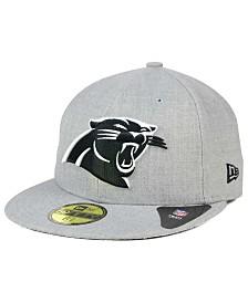 New Era Carolina Panthers Heather Black White 59FIFTY Fitted Cap