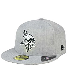 Minnesota Vikings Heather Black White 59FIFTY Fitted Cap