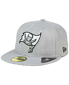 Tampa Bay Buccaneers Heather Black White 59FIFTY Fitted Cap