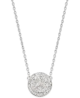 Diamond Cluster Disc Pendant Necklace (1/5 ct. t.w.) in