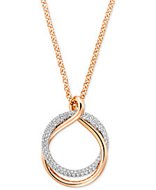 Swarovski Pavé Intertwined Rings Pendant Necklace