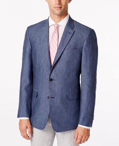 Tommy Hilfiger Men's Linen Extra-Slim Fit Sport Coat - Blazers ...