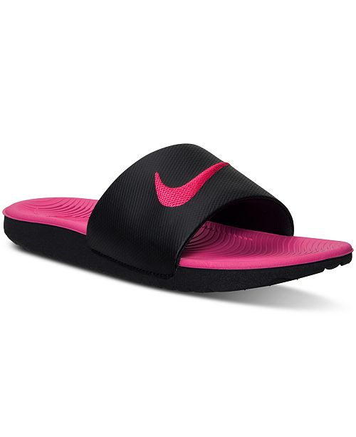 cf81ee93acea1 Nike Big Girls  Kawa Slide Sandals from Finish Line   Reviews ...