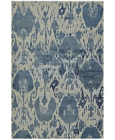 "Dalyn Mosaic Ikat Denim 3'3"" x 5'1"" Area Rug"