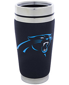 Hunter Manufacturing Carolina Panthers 16 oz. Stainless Steel Travel Tumbler