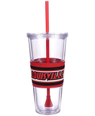 Boelter Brands Louisville Cardinals 22 oz. Hyped Straw Tumbler
