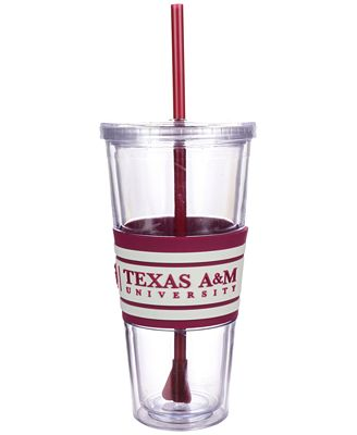 Boelter Brands Texas A&M Aggies 22 oz. Hyped Straw Tumbler
