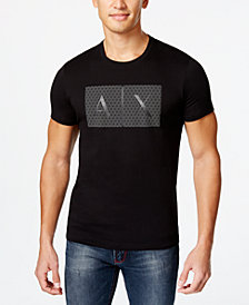 Armani Exchange Men's Triangulation Graphic-Print Logo T-Shirt