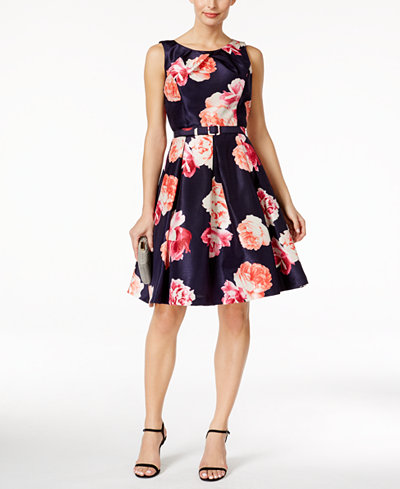 Jessica Howard Floral Print Fit Amp Flare Dress Dresses