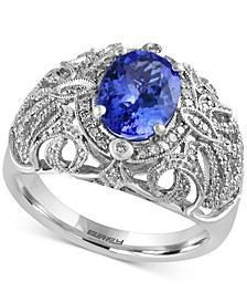 Tanzanite Royale by EFFY® Tanzanite (1-3/4 ct. t.w.) and Diamond (1/3 ct. t.w.) Ring in 14k White Gold