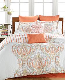 CLOSEOUT! Jordanna Coral 8-Pc. Full Comforter Set