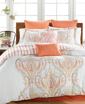 CLOSEOUT! Jordanna Coral 8-Pc. King Comforter Set
