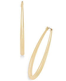 "Thalia Sodi Extra Large 3"" Gold-Tone Teardrop Hoop Earrings, Created for Macy's"