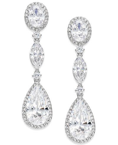 Danori Oval Crystal Drop Earrings, Created for Macy's