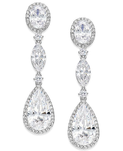 ... Danori Oval Crystal Drop Earrings 9865433c6c