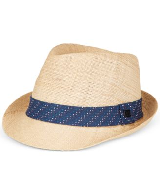 Sean John Men's Raffia Blue Band Fedora
