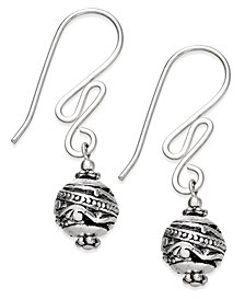 Jody Coyote Squiggle Drop Earrings in Sterling Silver and Silver-Plating