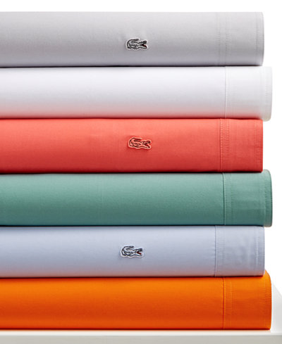CLOSEOUT! Lacoste Home Wrinkle Resist 4-pc Sheet Sets, 220 Thread Count Brushed Twill