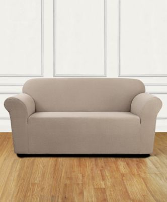 Stretch Delicate Leaf One-Piece Loveseat Slipcover