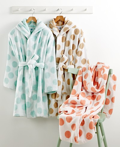 CLOSEOUT! Martha Stewart Collection Dot Robe, Created for Macy's