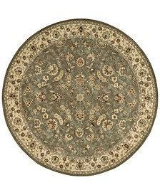 Wool and Silk 2000 2003 Olive Olive 6' Round Rug
