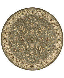 Nourison Round Area Rug, Wool & Silk 2000 2003 Olive Olive 6'