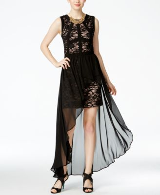Lace and Chiffon Gown