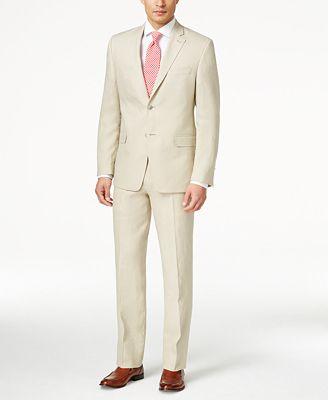 Lauren Ralph Lauren Men's Slim-Fit Tan Suit - Suits & Suit ...