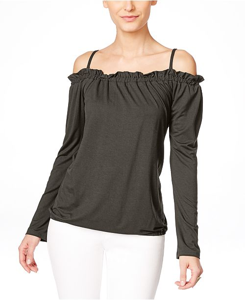 INC International Concepts I.N.C. Off-The-Shoulder Peasant Blouse, Created for Macy's
