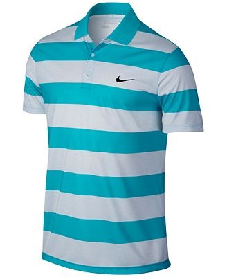 Nike men 39 s victory bold dri fit golf polo casual button for Nike dri fit victory golf shirts
