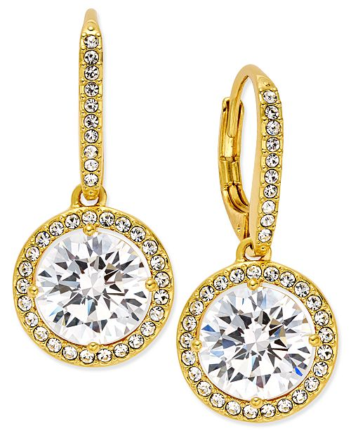 Danori 18k Gold-Plated Crystal Drop Earrings, Created for Macy's