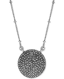 Silver-Tone Carded Pave Necklace