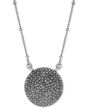 Lucky Brand Necklace, Silver-Tone Pave Crystal Necklace