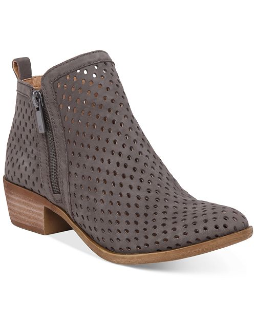 Lucky Brand Women's Perforated Basel Booties Women's Shoes VCOOlFTRS8