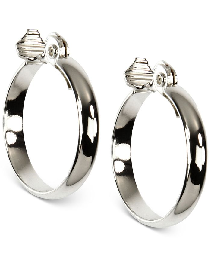 Anne Klein - Silver-Tone Wide Hoop Earrings