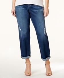 MICHAEL Michael Kors Plus Size Dillon Ripped Boyfriend Jeans