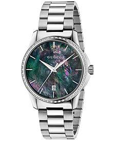 Gucci Unisex Swiss G-Timeless Stainless Steel Bracelet Watch 38mm YA126458