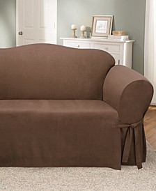 Soft Faux Suede Loveseat Slipcover