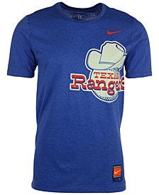Nike Men's Texas Rangers Coop Tri-Blend T-Shirt