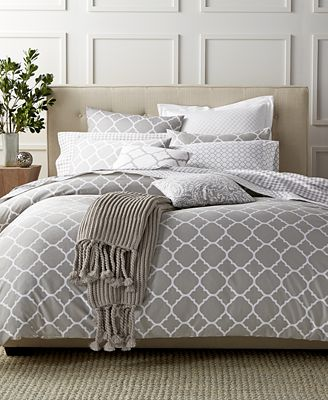 Charter Club Damask Designs Geometric Dove Bedding Collection, Only at Macy's