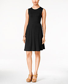 Style & Co. Sleeveless A-Line Swing Dress, Created for Macy's