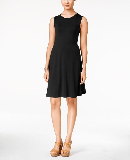 Sleeveless A-Line Swing Dress, Created for Macy's