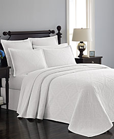 Martha Stewart Collection  100% Cotton Castle Matelassé King Bedspread, Created for Macy's